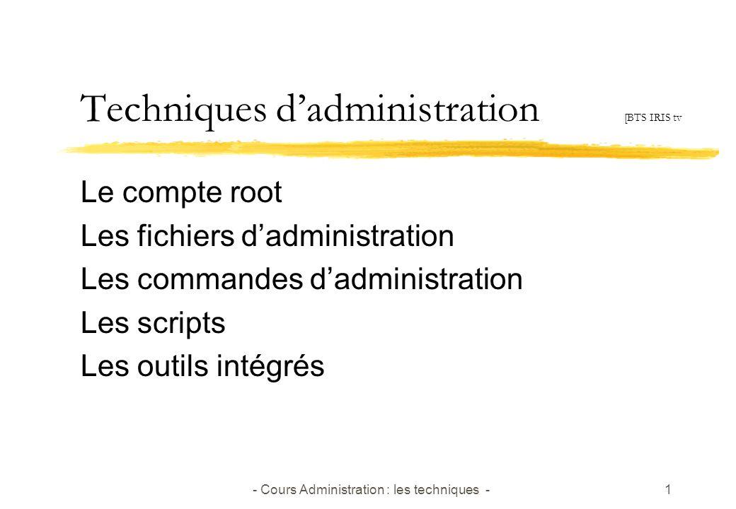 Techniques d'administration [BTS IRIS tv
